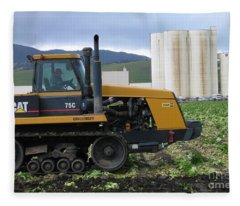 Tractor At Spreckels Fleece Blanket