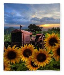 Tractor Heaven Fleece Blanket