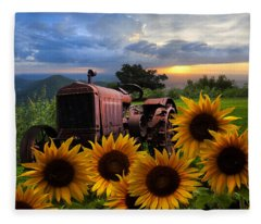 Tractor Heaven Fleece Blanket