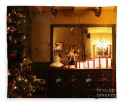 Traditional English Christmas Fleece Blanket