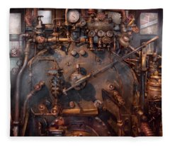 Train - Engine - Hot Under The Collar  Fleece Blanket