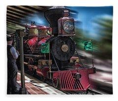 Train Ride Magic Kingdom Fleece Blanket