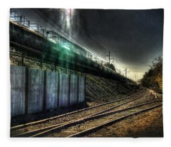 Train To Salvation Fleece Blanket