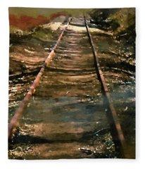 Train Track To Hell Fleece Blanket