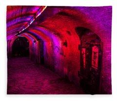 Trajectum Lumen Project. Ganzenmarkt Tunnel 2. Netherlands Fleece Blanket