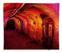 Trajectum Lumen Project. Ganzenmarkt Tunnel 4. Netherlands Fleece Blanket