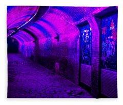 Trajectum Lumen Project. Ganzenmarkt Tunnel 5. Netherlands Fleece Blanket
