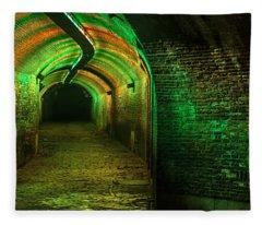 Trajectum Lumen Project. Ganzenmarkt Tunnel 7. Netherlands Fleece Blanket