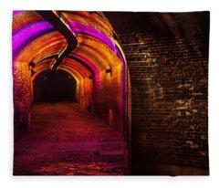 Trajectum Lumen Project. Ganzenmarkt Tunnel 8. Netherlands Fleece Blanket