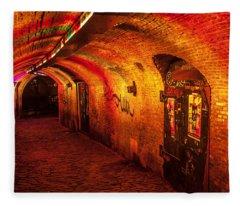 Trajectum Lumen Project. Ganzenmarkt Tunnel. Netherlands Fleece Blanket