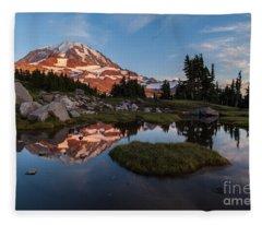 Tranquil Mountain Pool Fleece Blanket
