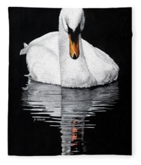 Tranquil Reflection Fleece Blanket