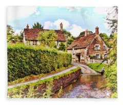 Tranquil Stream Lacock Fleece Blanket