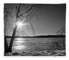 Tranquil Sunset Fleece Blanket