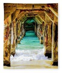 Tranquility Below Fleece Blanket