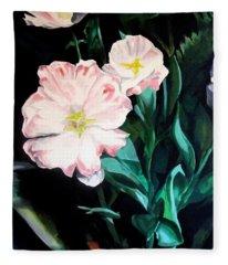 Tranquility In The Garden Fleece Blanket