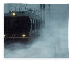 Traveling In The Snow... Fleece Blanket