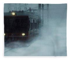 Traveling In The Snow... Fleece Blanket