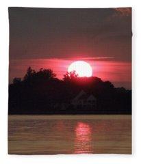 Tred Avon Sunset Fleece Blanket