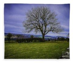 Tree - Hadrian's Wall Fleece Blanket