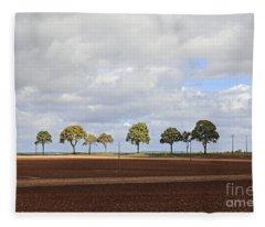 Tree Line France Fleece Blanket