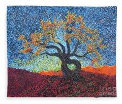 Tree Of Heart Fleece Blanket
