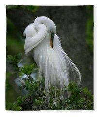 Tree Of Plumes Fleece Blanket