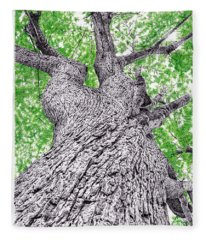 Tree Pen Drawing 4 Fleece Blanket