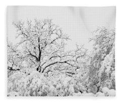 Tree Snow Fleece Blanket