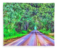 Tree Tunnel Kauai Fleece Blanket