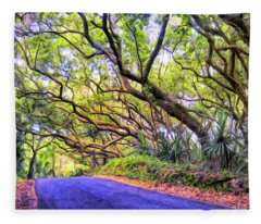 Tree Tunnel On The Big Island Fleece Blanket