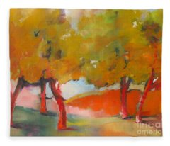 Trees #5 Fleece Blanket