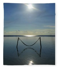 Fleece Blanket featuring the photograph Tres Luces by Skip Hunt