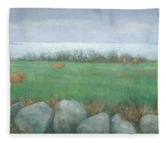 Tresco Cows Fleece Blanket