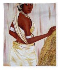 Tribal Girl Fleece Blanket