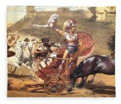 Triumphant Achilles Fleece Blanket