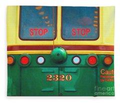 Trolley Car - Digital Art Fleece Blanket
