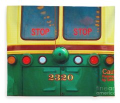 Trolley Car - Digital Art Fleece Blanket