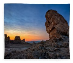 Trona Pinnacles Fleece Blanket