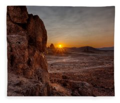 Trona Sunset Fleece Blanket