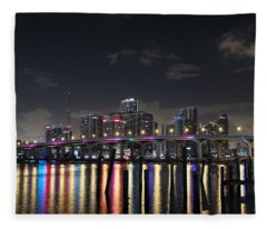Trooper Bridge Miami Fleece Blanket