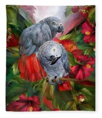 Tropic Spirits - African Greys Fleece Blanket