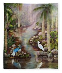 Tropical Fog Fleece Blanket