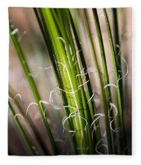 Tropical Grass Fleece Blanket