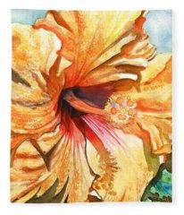 Tropical Hibiscus 3 Fleece Blanket