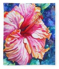 Tropical Hibiscus 4 Fleece Blanket