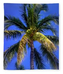 Tropical Palm Trees 8 Fleece Blanket
