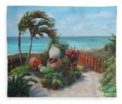 Tropical Paradise Fleece Blanket
