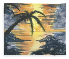 Tropical Sun Fleece Blanket