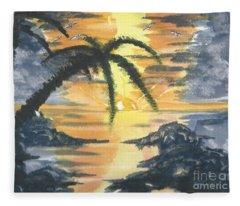 Tropical Sun Fleece Blanket